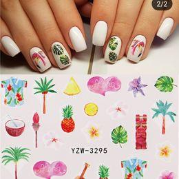 1 Sheet Nail Sticker Sliders Christmas Summer Beach Flower Water Transfer Decals Diy Nail Art Decorations Wraps Manicure