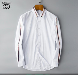 casual camicie formali per gli uomini Sconti NIGRITY 19 Spring Men's Fashion Classic Comodo Casual manica lunga Business Shirt Uomo Formal Shirt Plus Size S-Size 3XL # 146