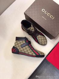 Las mejores marcas de zapatillas de calidad online-La mejor calidad 2019 Classic Luxury MATCH-UP Sneakers Designer Piel de vaca marca para hombre de cuero genuino zapatos tamaño 38-45