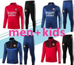 conjunto de treinamento com zíper Desconto 2019/20 Feyenoord treino completo Zipper formação paletó 2019 2020 V.PERSIE JORGENSEN Feyenoord homens + crianças conjuntos de treino