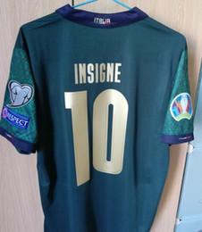 Italien weg jersey online-S-4XL 2019 2020 ITALY European Cup Fußball Jersey 19 20 grün weghemden Jorginho EL Shaarawy BONUCCI INSIGNE Bernardeschi FOOTBALL