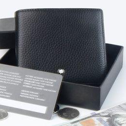 marchio caldo delle tasche Sconti 1906 Titolare della carta tasca moneta di marca tedesca di lusso in vera pelle MB portafoglio caldo, uomini affari gemelli accessori uomini gemelli Suit