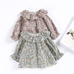 b1e98495ef2 Little Girl Vintage Floral Shirts Baby Girl Princess Printed Blouse Children  Spring Cotton Jumper Tops Baby Clothes