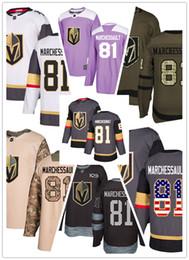 2019 equipo de invierno de los hombres Vegas Golden Knights camisetas 81 Jonathan Marchessault jersey hockey hombres mujeres gris blanco negro Auténtico clásico de invierno Stiched engranajes equipo de invierno de los hombres baratos