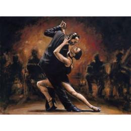 Quadros casais de arte on-line-Bela dama pinturas a óleo figura arte moderna Dancing Couple Handmade arte da parede