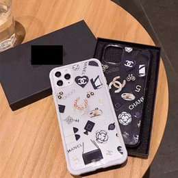 spiegel lite Rabatt Für iphone 11 Pro Max Soft Clear Telefon-Kasten für iphoneX 11Pro 11 Xs max Xr 8plus 8 7plus 7 Marke Drucken Zurück Schutzabdeckung A03
