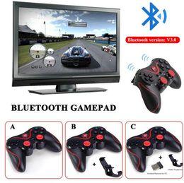 joysticks para pc Rebajas Original T3 Controlador de juegos inalámbrico Bluetooth Gamepad Consola de juegos Joystick Joypad para Android IOS TV Box Tablet PC Computet Laptop