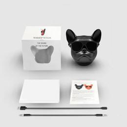 Bull Chien Électroplate Mini Portable Sans Fil Bluetooth 4.2 Radio Carte Audio Haut-Parleur Conception Spéciale Tête De Chien Haut-parleurs Subwoofer Cadeau ? partir de fabricateur