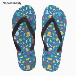 Sandalias y flip flops online-Nopersonalidad Hombres Zapatillas Casuales Equipo de Hogar Impresiones Verano Playa Flipflops antideslizante Zapatos de interior Sandalias zapatos hombre