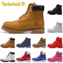 Homens sapatos casuais para o inverno on-line-Timberland Hothomens botas de luxo tamanho mulheres sapatos casuais inverno neve Castanha Black White tênis ao ar livre dos homens formadores de inicialização 36-45