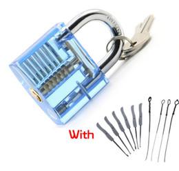 Werkzeug entfernen gebrochene schlüsselverriegelung online-Schlosser-Handwerkzeuge Verschluss-Auswahl-Set transparent sichtbar Cutaway Übungsvorhängeschloss mit gebrochenem Schlüssel Entfernen von Haken Hardware