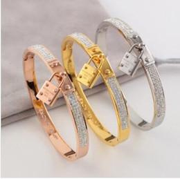 2019 k armbänder Whosesale Preis New M Brand Top-Qualität Designer K Brief Gold / Rose Gold Bangles Schwarz Vergoldet Armband Edelstahl Armbänder günstig k armbänder