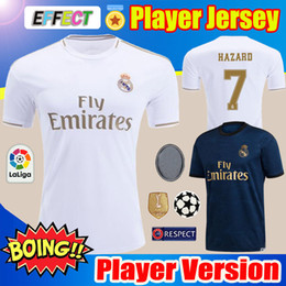 eded1070 Player Version 19 20 Real Madrid Soccer Jerseys Kids Kits Home Away 2019  HAZARD camiseta de fútbol SRERGIO RAMOS MODRIC Sets Football Shirts
