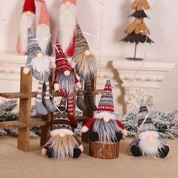 Ornement de Noël en peluche tricotée Arbre de Noël Gnome Poupée Tenture Pendentif Décor d'arbre de vacances cadeaux Décorations ? partir de fabricateur