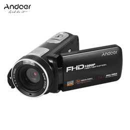 2019 anti vídeo Andoer FHD 1080 P Câmera de Vídeo Digital Camcorder DV Recorder Anti-shake Face Detection com Bateria Recarregável Controle Remoto desconto anti vídeo