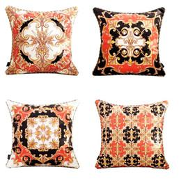 2019 travesseiro real High-end real Europa rico Itália New Imprimir Caso do cavalo do ouro rococó Pillow Wedding Red capas de almofada de luxo Pillow 5 Designs travesseiro real barato