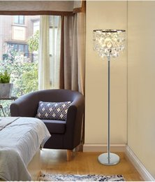transparent table lamps Promo Codes - Modern Luxury Crystal Floor Lamp Smoky Gray   Transparent Table Lamp Simple Modern study led floor Light for Bedroom Livingroom
