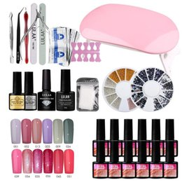 ferramentas essenciais de manicure Desconto Gel Nail Polish Starter Kit Professional Manicure Tools Set Manicure Ferramentas Essentials prego Kit arte com Base Coat Top