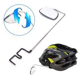 2019 capacete ajustável Retrovisor de Bicicleta ao ar livre Capacete De Equitação Ciclismo Espelho Retrovisor Ajustável Bicicleta Retrovisor Preto Bicicleta Acessórios LJJZ66 capacete ajustável barato