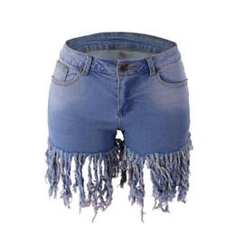 2020 calção jeans estreita Jeans Shorts Moda Verão Longo desgastado Hem senhoras jeans apertado Shorts Sexy BuLift denim stretch com bolsos calção jeans estreita barato
