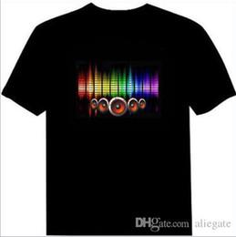 EL Blinkende Männer Voice-aktivierte LED-Licht T-Shirt Männer Party Konzert Persönlichkeit Modenschau T-Shirt Sound Shiny T-Shirt Größe XXS-3XL von Fabrikanten