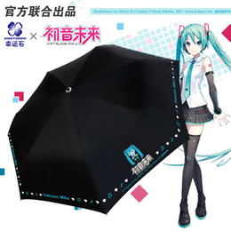 2019 rin kagamine cosplay [Hatsune Miku] Anime Guarda-chuva Dobrável Mulheres Chuva Anti UV Parasol Manga Megurine Luka Kagamine RINLEN Presentes Para Meninas Cosplay desconto rin kagamine cosplay