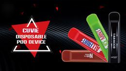 pacco batteria per penna vape Sconti HQD CUVIE Dispositivo monouso Pod 3Pcs / Pack 280mAh Batteria 1.25ml Cartuccia 300 soffi Vape Pen Kit 10 gusti usa e getta SPEDIZIONE GRATUITA