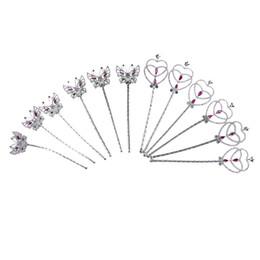 Canada 12pcs paillettes argent fée princesse ange baguette papillon coeur filles filles enfants en plastique sceptre magique fête d'anniversaire photo accessoires supplier butterfly girl photos Offre