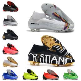 2020 scarpe Mercurial Superfly VI Calcio 360 Elite FG KJ 6 XII 12 CR7 SE Ronaldo Neymar Mens Donna Ragazzi Outdor Scarpe da calcio Scarpe chiodate