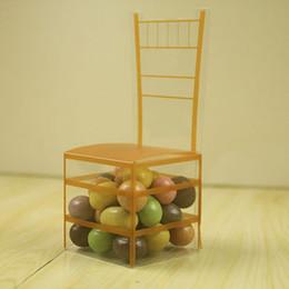 Transparente pvc box süßigkeit online-200 stücke Gold Stuhl PVC Transparent Pralinenschachtel Favor Geschenkbox Hochzeit Box Baby Shower Boxen Hochzeit Gefälligkeiten und Geschenken