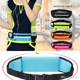 Outdoor Running Waist Bag Waterproof Anti theft Mobile Phone Holder invisible kettle Belt Belly Bag Women Gym Fitness HX02