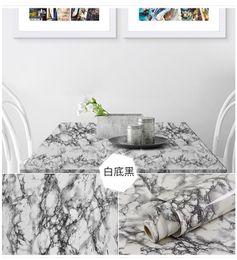 Pegatina de mármol online-Adhesivo de mármol engrosado gabinete de cocina encimera mueble etiqueta de renovación aceite de escritorio / papel tapiz impermeable autoadhesivo