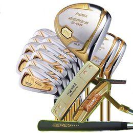 2019 ferros de golfe rígidos Transporte rápido Conjunto completo de tacos de golfe Honma S-06 4 Estrelas Driver Woods + Ferros + Putter R / S Flex Disponível Headcovers gratuitos