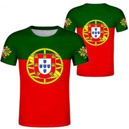 Costume diy camiseta on-line-PORTUGAL t camisa diy livre nome personalizado número t-shirt nação bandeira república português país faculdade impressão foto roupas