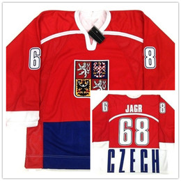b07591e8700 Rare Vintage  68 Jaromir Jagr Czech Republic National team Men s RETRO Hockey  Jersey Embroidery Stitched Customize any number and name