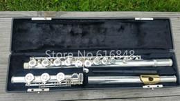 2019 flautas de oro Gemeinhardt M3 C Tune Flauta de instrumento musical de alta calidad Cupronickel Plateado Cuerpo Oro Flauta de labios 17 llaves Agujero abierto flautas de oro baratos