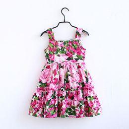Böhmische sommer-outfits online-Frauen Mädchen Sommer Kleid böhmischen Kinder Blumendruck Strumpf Kleid Kinder Prinzessin Kleid Mama und ich Familie passenden Outfits C6576