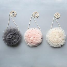 merletto del bambino del sacchetto Sconti Sweet Tulle Floral Girl Bag Borsa a tracolla a tracolla Stella Baby Lace Kindergarten Coin Elegante mini borse moda