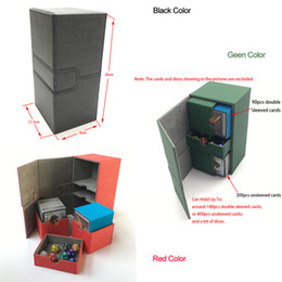 deck cards Promo Codes - Deck box for Trading cards Storage, Board game card case card box container Cars Deck Box Deck case: Black, Green, Red T191101