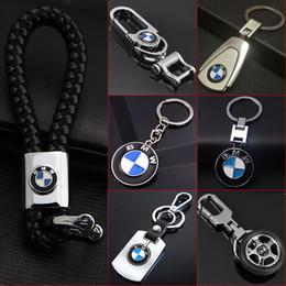 Bmw keys online-Lindsayflower 3D de cuero del coche del metal llavero llavero para bmw auto llavero car styling llavero automotriz llavero colgante accesorios para el coche