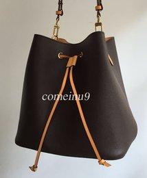 2019 sacos de designer marrom escuro 2019 Moda das Mulheres Balde Saco de Alta Qualidade Bolsa de Ombro de Couro Genuíno Design Clássico Sacos Crossbody Senhora Bolsas mais cores