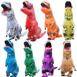 fremdes kleid Rabatt Erwachsene Kinder aufblasbare Dinosaurier-Kostüm Frauen Männer Kostüme Dinosaurier Alien-Halloween-Partei-Abendkleid-Klage Karneval Cosplay A-852
