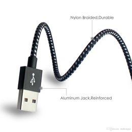 провод для зарядки сотового телефона Скидка 3 м USB к Micro зарядный кабель для сотового телефона Android Быстрая зарядка Синхронизация данных Зарядное устройство Шнур нейлоновый длинный провод для iphone xs max