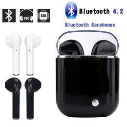 2019 kopfhörer-headset bluetooth auto i7S Wireless Bluetooth Stereo Sport-Ohrhörer Headset Kopfhörer In-Ear-Ohrhörer für Android System Auto rabatt kopfhörer-headset bluetooth auto