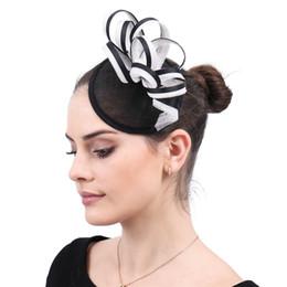 Vintage elegante femminile signora fedora cappelli per capelli affascinanti per matrimoni femminili sposa copricapo sposato con cappi accessori per capelli SYF588 da