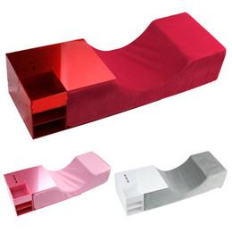 2019 kit complet pour extensions de cils Extension de cils avec plateau en acrylique Organisateur pour greffer Cils Ergonomique Courbe Mousse mémoire Lash Oreiller Maquillage