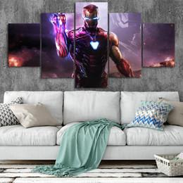 2019 peinture à l'huile abstraite forêt hd Iron Man Art Toile Affiches Décor À La Maison Mur Art Cadre 5 Pièces Peintures Pour Le Salon HD Prints Marvel Pictures NO .b