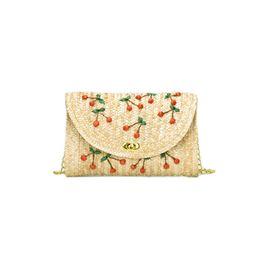 borsa ricamata a mano Sconti Dropshipping della borsa di spalla della paglia ricamato borsa della spalla di paglia della borsa di marca di KKMHan borsa casuale femminile