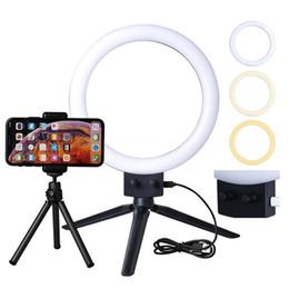 """Lumières caméra couleur en Ligne-Lampe annulaire à LED Infini Lampe annulaire à LED 7 """"Variation de la température de couleur double pour vidéo YouTube et maquillage Mini caméra avec téléphone portable"""