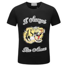 19ss летняя мода дизайнер бренда мужчины футболка Футболка сад 3D Тигр животных Письмо печати футболка с коротким рукавом тройники повседневная топ лучшее качество от